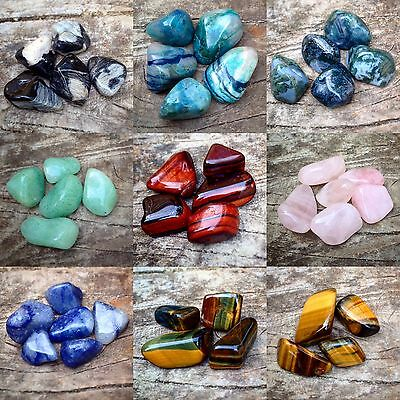 Crystals Reiki Chakra 10 - 20mm - Buy 6 Get 6 FREE Tumble Stone Gemstones • 5.99£