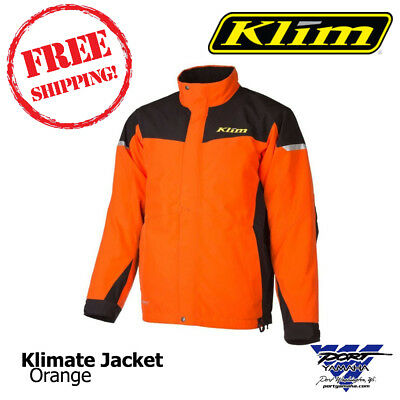 $ CDN303.12 • Buy 2017 Klimate Parka Orange Men's Snowmobile Jacket Sizes: MD, LG, XL, 2XL