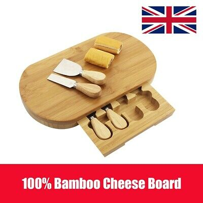 £11.99 • Buy Slide Out Drawer Wooden Cheese Board Knife Service Set And Specialist Knives