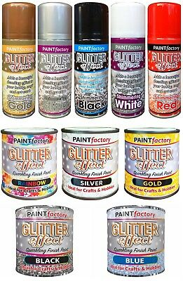 Sparkling Finish Glitter Effect Decorative Spray Paint Hobbies Arts & Crafts New • 6.99£