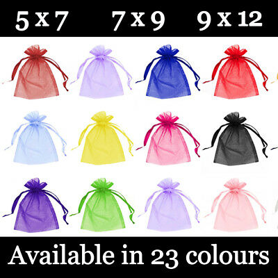 £2.89 • Buy Small Organza Gift Pouches Wedding Favour Bags Jewellery Pouch 23 Colours 3 Size