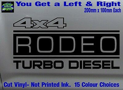 AU12.90 • Buy RODEO Stickers Accessories Ute Car MX Funny Decal 4x4 TURBO DIESEL 200mm PAIR