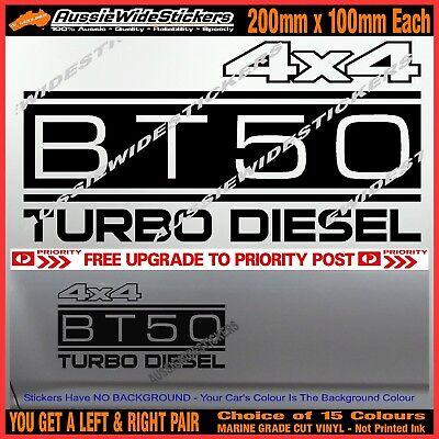 AU12.90 • Buy BT50 Stickers Accessories Ute MX Funny Decal 4x4 TURBO DIESEL 200mm PAIR