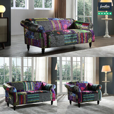 £559.99 • Buy Anna Bespoke Patchwork Fabric Sofa Suites | 3 Seaters, 2 Seaters & Armchairs