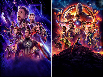 $ CDN19.75 • Buy Avengers End Game Infinity War Movie Textless Posters HQ Art Print 27×40 48×32
