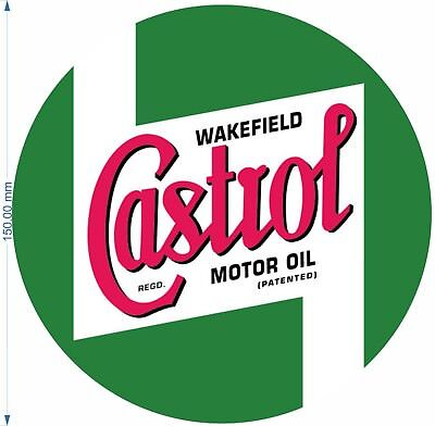 £2.99 • Buy CASTROL Vintage Replilica Decal Logo Rally Touring Car STICKERS Race Classic