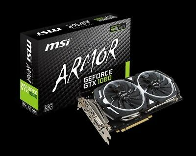 $ CDN824.64 • Buy Slightly Used Armor MSI 1080 GTX OC NVIDIA Geforce Graphics Card, GPU, VR Ready
