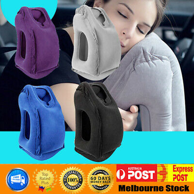 AU17.55 • Buy New Inflatable Air Travel Pillow Cushion Neck Flight Comfortable Support Nap AU