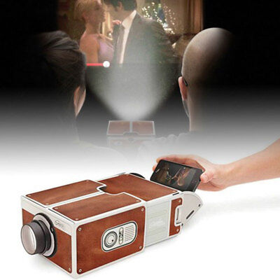 V2.0 Smartphone Projector DIY Mobile Phone Home Theater Cinema Video For IPhone • 5.99£