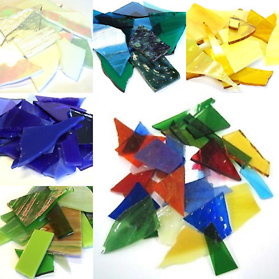 Crazy Paving Stained Glass For Mosaic Art And Craft - 200g Various Colours • 7.10£