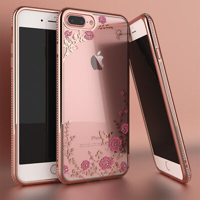AU7.77 • Buy For IPhone 8 6 7 Plus Case Phone Shockproof Bumper Glitter Bling TPU Clear Cover