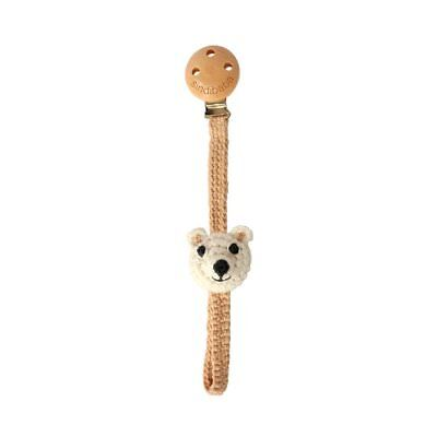 SINDIBABA Crochet Knitted Organic Pacifier Clip Soother Dummy Holder Baby Feedin • 3.99£