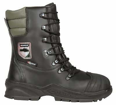 Cofra Power Black Lace Up Safety Work Class 2 Chainsaw Toecap Boots • 95.59£