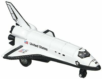 5  USA White Space Shuttle Diecast Model Toy W/ Pull Action United States NASA • 5.77£