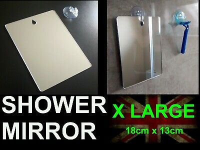 £8.99 • Buy X LARGE Shower Shaving Mirror,Strong Safe Shatter Proof-Travel-Camping FREE Hook