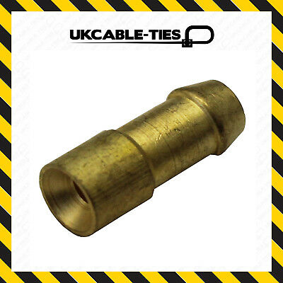 100Pcs Uninsulated Brass Bullet Connectors 4.7mm Lucas Type Electrical Terminals • 7.43£