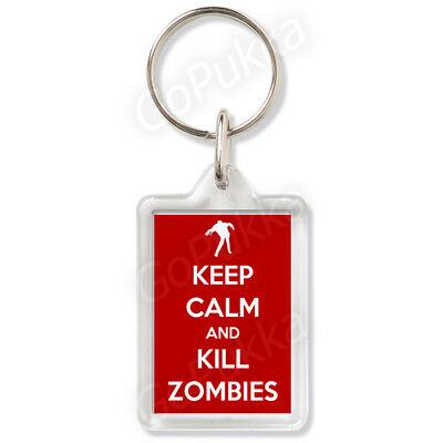 £2.99 • Buy Keep Calm And Kill Zombies (Red) – Keyring