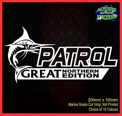AU6.90 • Buy PATROL Stickers Accessories Ute Car MX Funny Decal GREAT NORTHERN 200mm