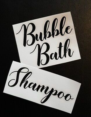 Sticker Label For Bathroom Glass Jars/Tins/Canisters/Tubs/Storage/Boxes/Box/Pots • 1.50£