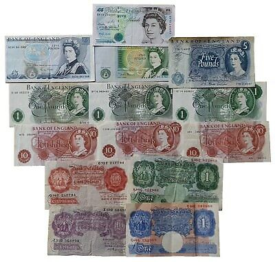 £14.99 • Buy Old British Bank Notes 10 Shillings One Pound £1 Five Pounds £5 Choose Your Type