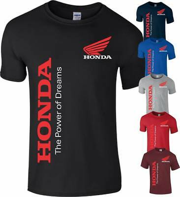 HONDA CLASSIC MOTORBIKE BIKER MOTORCYCLE BIKE RACING MEN S To 5XL • 9.99£