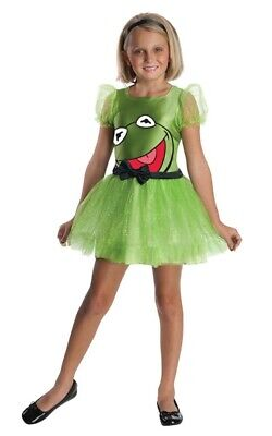 The Muppets Kermit The Frog Child Girls Fancy Dress Halloween Costume • 29.70£