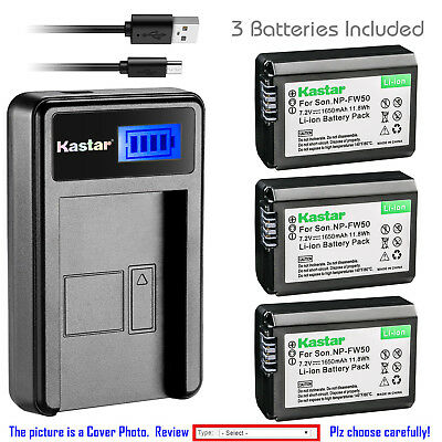 $ CDN17.11 • Buy Kastar Battery LCD Charger For Sony NP-FW50 BC-TRW & Sony ILCE-6000 Alpha A6000