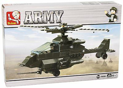 £16 • Buy Sluban Army Attack Apache Helicopter Construction Play Set With Mini Figures