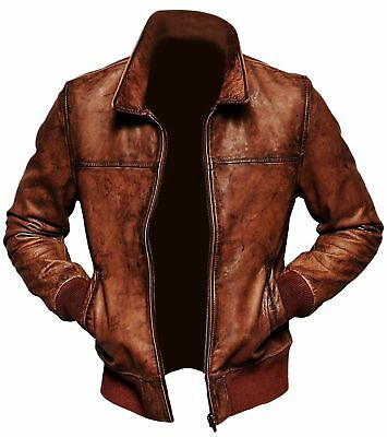 Kingdom Leather New Men Quilted Leather Jacket Soft Lambskin Biker Bomber X625