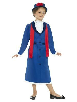 £21.99 • Buy Girls Victorian Nanny Fancy Dress Costume Poppin Childrens Book Day Outfit