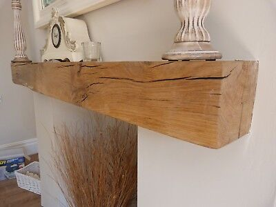 £133 • Buy Oak Fireplace Beam Rustic Floating Mantel Contemporary Classic Various Sizes