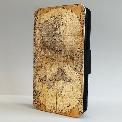 Antique Map World Vintage FLIP PHONE CASE COVER For IPHONE SAMSUNG • 5.95£