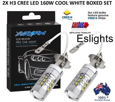 AU39.95 • Buy 2x H3 Led Cree Xbd 160w Headlight Fog Driving Light Bulbs Car Canbus Lamp Globe