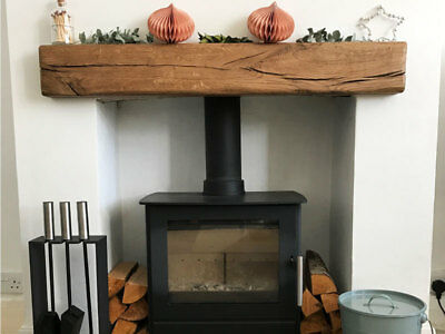 Rustic Oak Beam Fireplace Mantel Solid Aged Various Sizes • 210£