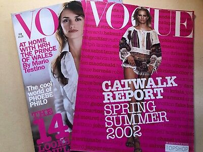 £14.99 • Buy VOGUE MAGAZINE 2002 February & Catwalk Report 8 Page Corinne Day Kate Moss Shoot