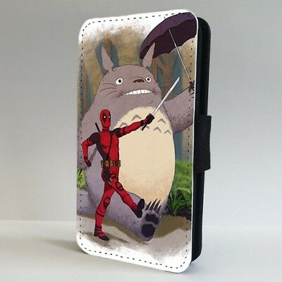 Deadpool My Neighbo Totoro Funny Marvel FLIP PHONE CASE COVER For IPHONE SAMSUNG • 9.95£