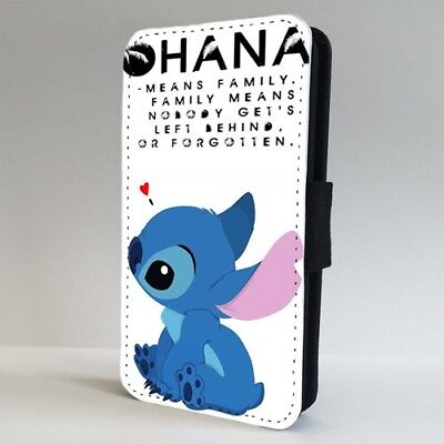 £9.95 • Buy Lilo And Stitch Disney Family Ohana FLIP PHONE CASE COVER For IPHONE SAMSUNG