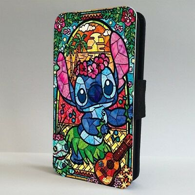 Lilo And Stitch Stained Glass Disney FLIP PHONE CASE COVER For IPHONE SAMSUNG • 9.95£