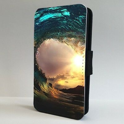 Sunset Amazing Surfing Wave Ocean FLIP PHONE CASE COVER For IPHONE SAMSUNG • 9.95£