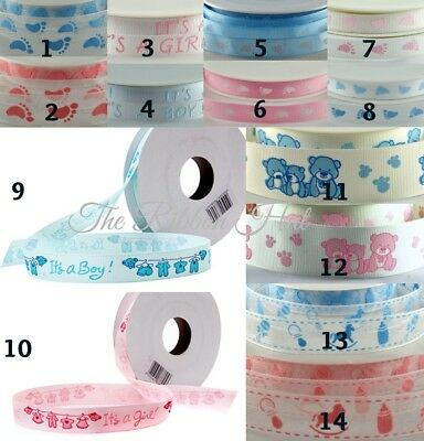 £1.79 • Buy Baby Ribbons - 10mm/15mm/16mm-Grosgrain And Organza-4 Metres-Baby Shower,Crafts