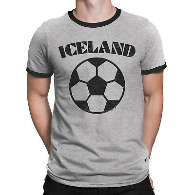 Mens ICELAND Football T-Shirt World Cup 2018 Basic Retro • 7.83  c94b5a6b7