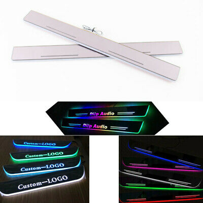 $55 • Buy Customized LED Dynamic Door Sill Scuff Plate Courtesy Light For Ford Mustang
