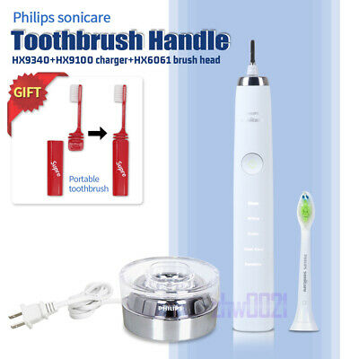 AU96.65 • Buy Philips Sonicare DiamondClean Toothbrush Handle HX9340 & HX9100 Charger & HX6061