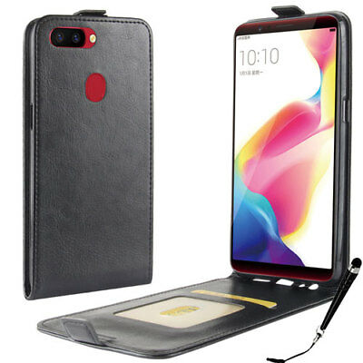 AU9.99 • Buy Black Leather Flip Card Wallet Case Cover For OPPO R11s + FREE Stylus