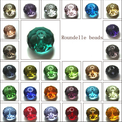 $ CDN2.36 • Buy Wholesale Crystal Glass Rondelle Faceted Loose Spacer Beads 6mm 8mm U Pick