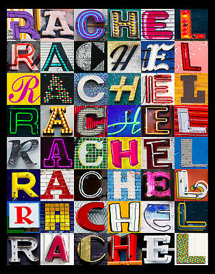 $ CDN21.38 • Buy RACHEL Name Poster Featuring Photos Of Actual Sign Letters