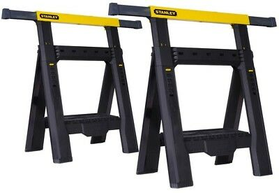 AU86.94 • Buy Adjustable Folding Sawhorse Saw Horse Stand Height Width 2 Pack Stanley 31 In