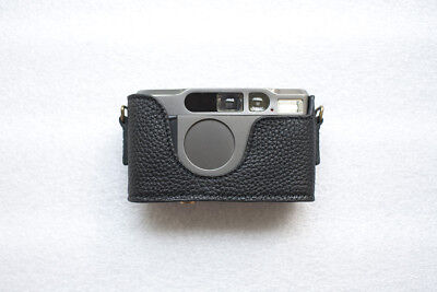 $ CDN75.46 • Buy Handmade Genuine Real Leather Half Camera Case Bag Cover For Contax T2 Black