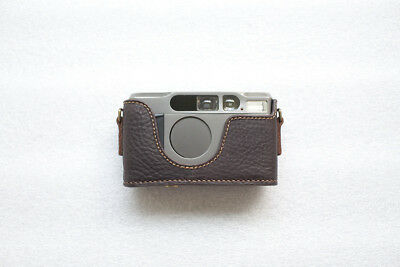$ CDN75.46 • Buy Handmade Genuine Real Leather Half Camera Case Bag Cover For Contax T2 Brown