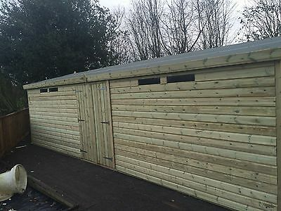 £3432 • Buy WOODEN GARDEN SHED SUMMERHOUSE ULTIMATE 19MM TANALISED SECURITY WORKSHOP 30x10ft